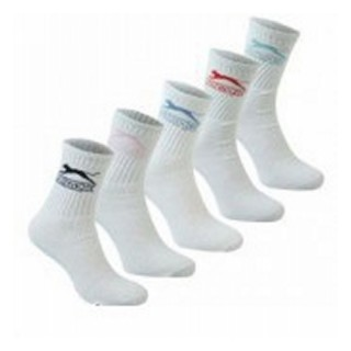 SLAZENGER Чорапи 5PK CREW SOCK 10 WHITE MENS       7-11