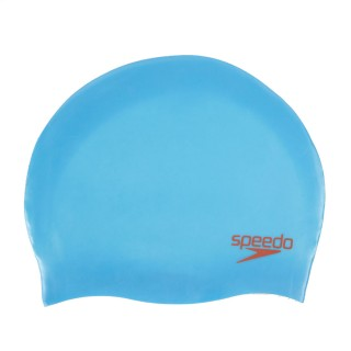 SPEEDO Аксесоари за плуване PLAIN MOULDED SILC CAP JU BLUE/RED