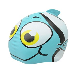 SLAZENGER Шапки за плуване SLAZ KIDS FUN SILI CAP 00 BLUE FISH -