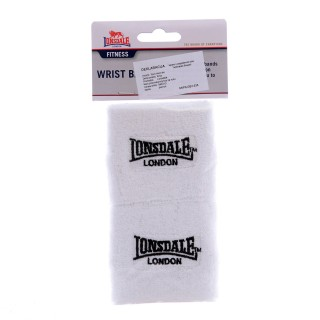LONSDALE Наколенки LONSDALE WRIST BAND WHITE -