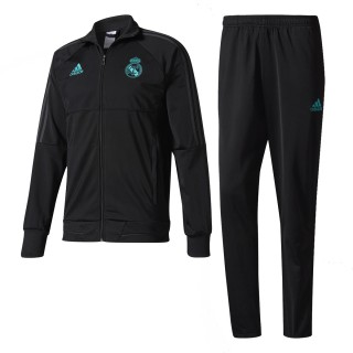 ADIDAS Суитшърти с цип REAL PES SUIT       BLACK/SOLGRE