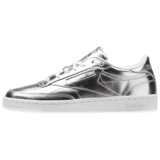 REEBOK Спортни обувки CLUB C 85 S SHINE   SILVER/WHITE