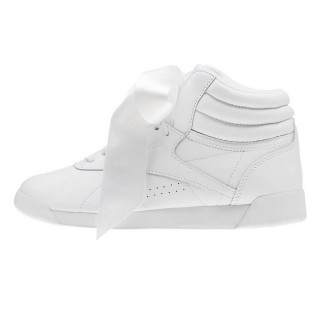 REEBOK Спортни обувки F/S HI SATIN BOW    WHITE/SKULL GREY