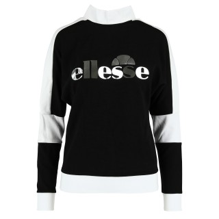 ELLESSE Суитшърти LADIES BLACK-WHITE CREWNECK