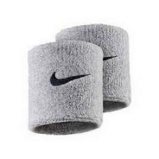 Nike- JR Ленти за ръце NIKE SWOOSH WRISTBANDS GREY HEATHER/BLACK
