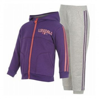 LONSDALE Анцунзи 2S 2PC JOG INF33 PINK/LT GREY M