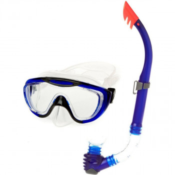 SPEEDO Аксесоари за плуване GLIDE MASK SNORKEL SET AU GREY/BLUE