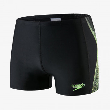 SPEEDO Бански PLACEMENT AQUASHORT AM BLACK/YELLOW