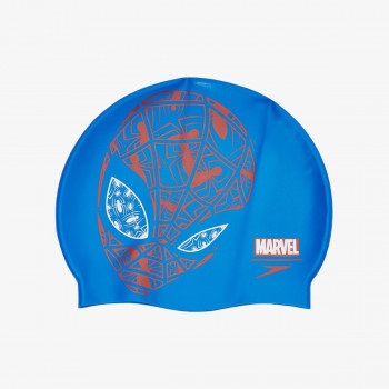 SPEEDO Шапки за плуване SLOGAN PRT CAP JU BLUE/RED