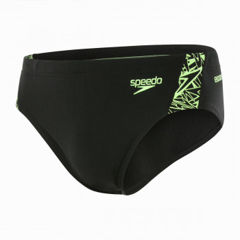 SPEEDO Бански BOOM SPL 7CM BRF AM BLACK/GREEN