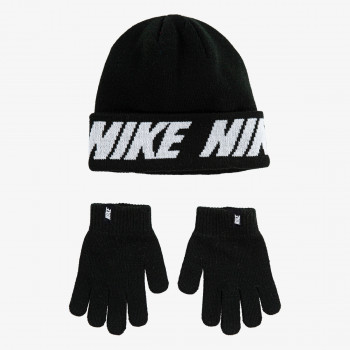 Nike- Haddad Анцунзи NAN WORD MARK BEANIE & GLOVE