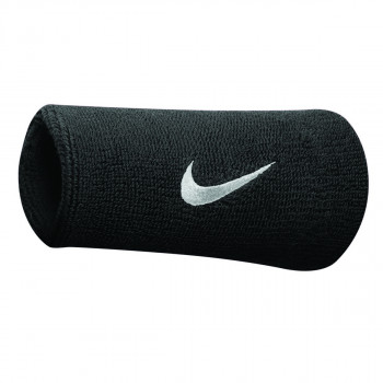 Nike- JR Ленти за ръце NIKE SWOOSH DOUBLEWIDE WRISTBANDS BLACK/WHITE