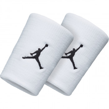 Nike- JR Ленти за ръце JORDAN JUMPMAN WRISTBANDS WHITE/BLACK