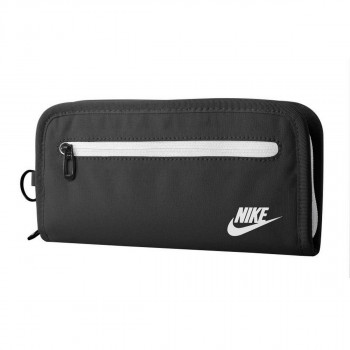 Nike- JR Портфейли NIKE HERITAGE LONG WALLET BLACK/WHITE
