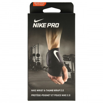 Nike- JR Ленти за ръце NIKE PRO WRIST AND THUMB WRAP 2.0 OSFM BLACK/WHITE