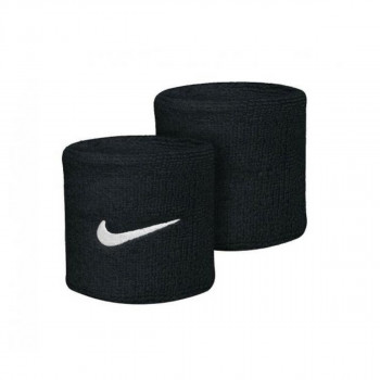 Nike- JR НАКИТНИЦИ NIKE SWOOSH WRISTBANDS BLACK/WHITE