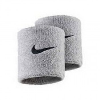 Nike- JR НАКИТНИЦИ NIKE SWOOSH WRISTBANDS GREY HEATHER/BLAC