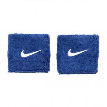 Nike- JR НАКИТНИЦИ NIKE SWOOSH WRISTBANDS ROYAL BLUE/WHITE