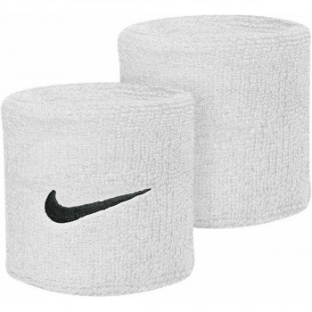 Nike- JR Ленти за ръце NIKE SWOOSH DOUBLEWIDE WRISTBANDS WHITE/BLACK