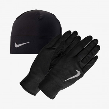 Nike- JR Ръкавици за тренировка NIKE MEN'S RUN DRY HAT AND GLOVE SET BLA