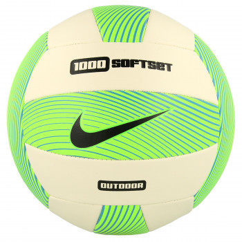 Nike- JR Топки NIKE 1000 SOFTSET OUTDOOR VOLLEYBALL DEFLATED ELECTRIC GREEN/WHITE/GAMMA BLUE/BLACK