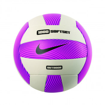 NIKE 1000 SOFTSET OUTDOOR VOLLEYBALL DEFLATED HYPER PINK/WHITE/HYPER GRAPE/BLACK