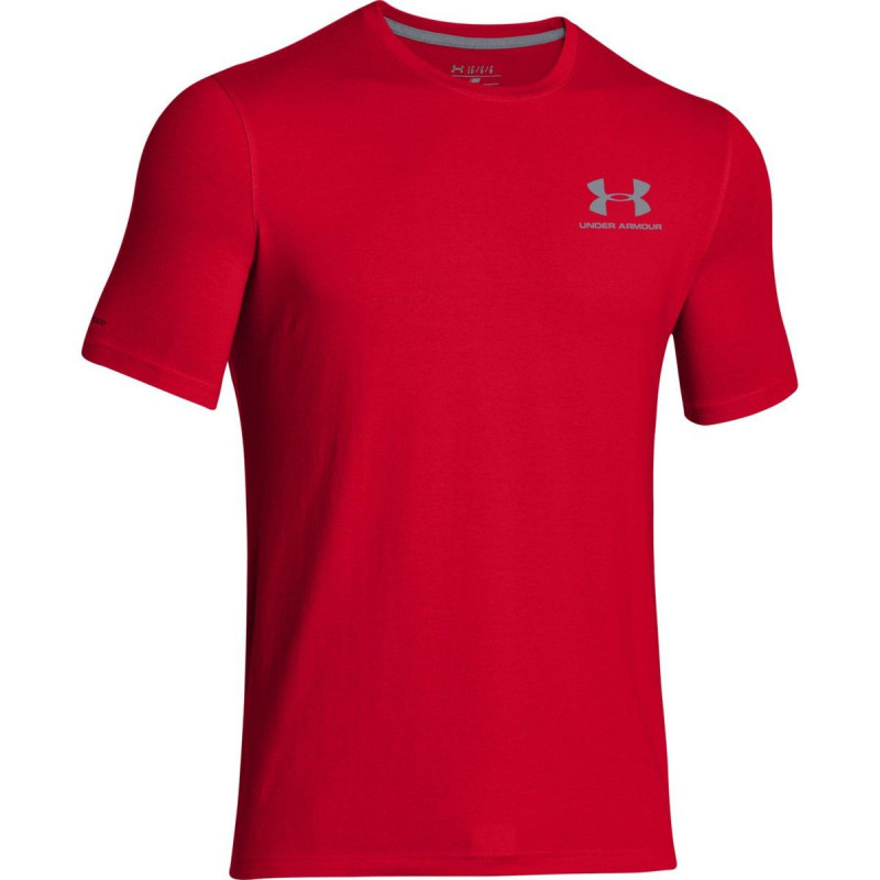 UNDER ARMOUR Тениски CC LEFT CHEST LOCKUP-RED//STL