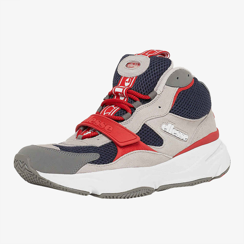 ELLESSE Спортни обувки AURANO MID TEXT AM GRY/BLU/RED