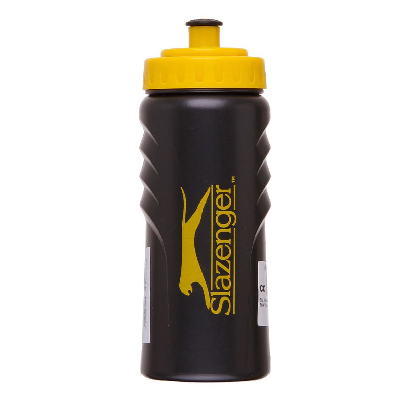 SLAZENGER Бутилки за вода SLAZ WATER BOTTLE SMALL BLACK/YELLOW 0.5L