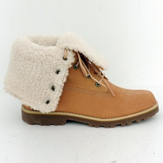 TIMBERLAND Зимни обувки 6 IN WP SHEARLING BO WHEAT